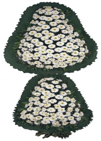 çerkezköy çiçek siparişi Beyaz Gerbera Cenaze Sepeti 1
