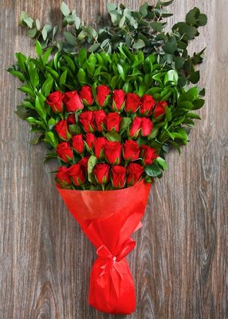 çerkezköy çiçek siparişi 30 Kırmızı Gül Buketi