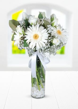 Pembenin Büyüsü Çiçe&#287i & Ürünü Beyazın Büyüsü