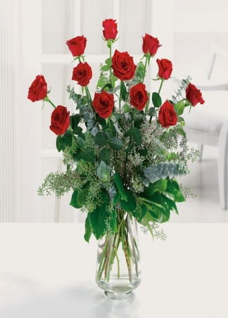 Cam Vazo İçinde Lilyumlar Çiçe&#287i & Ürünü Biricik Sevgilim